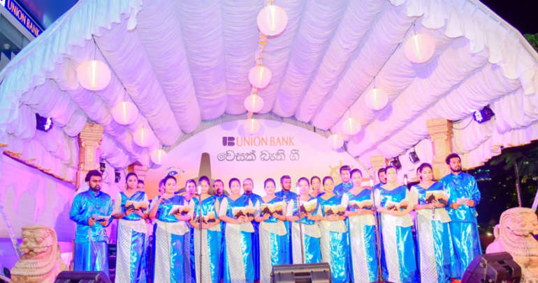Union Bank celebrates Vesak with Bodu Bathi Gee Saraniya